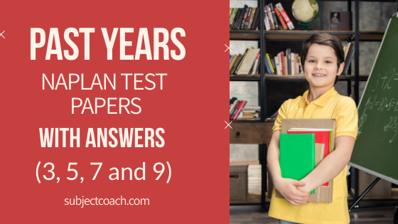 past years naplan test papers with answers