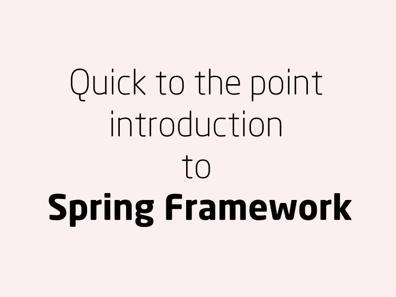 SubjectCoach | Quick to the point introduction to Spring Framework