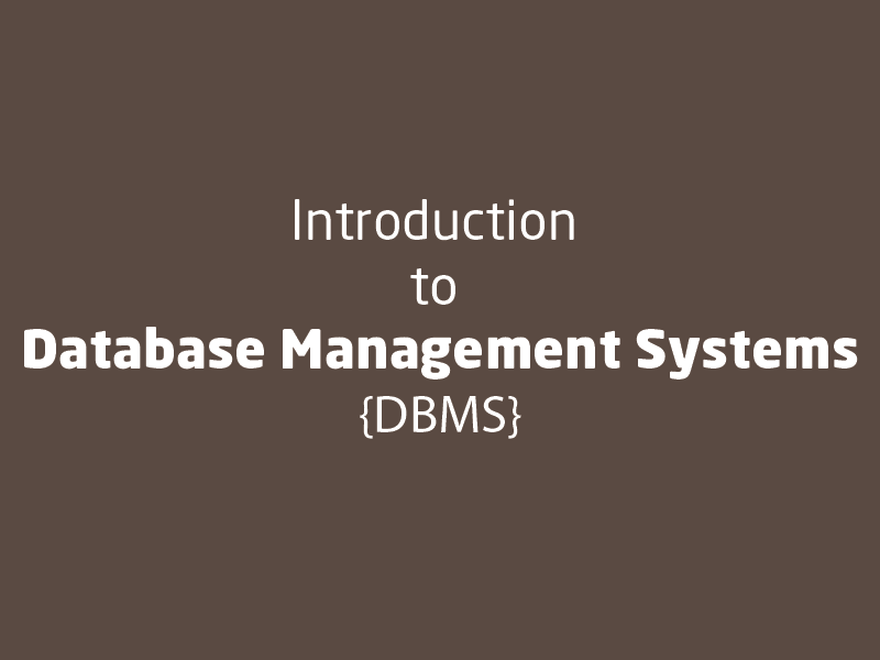 SubjectCoach | Introduction to database management systems