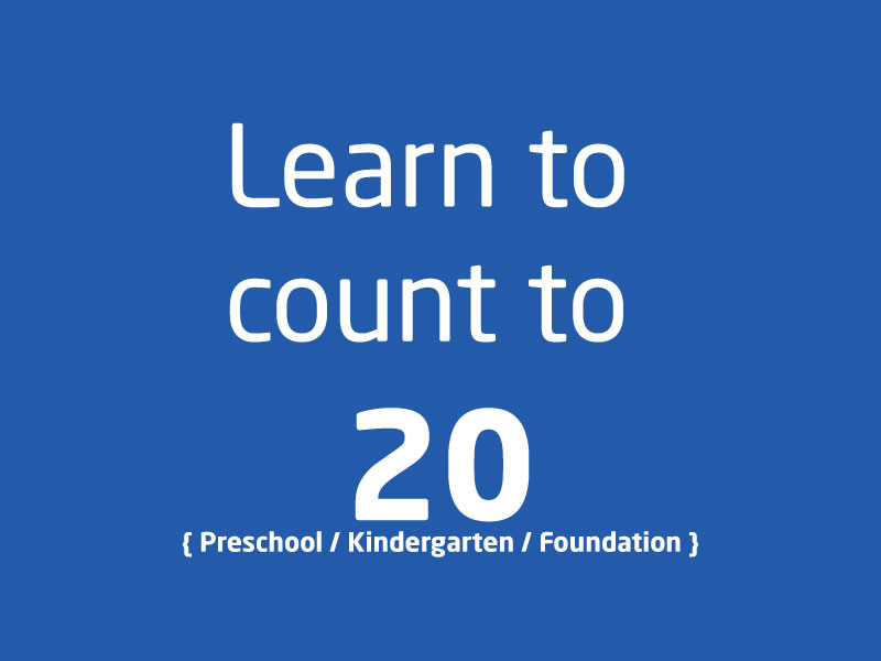 SubjectCoach | PreSchool Kindergarten Foundation Learn to count to 20