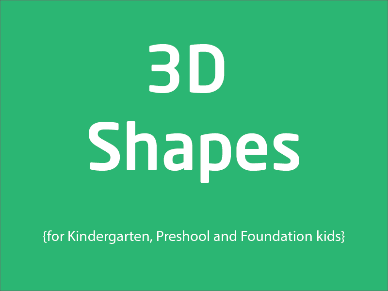 SubjectCoach | 3D shapes training for Kindergarten, PreSchool & Foundation kids