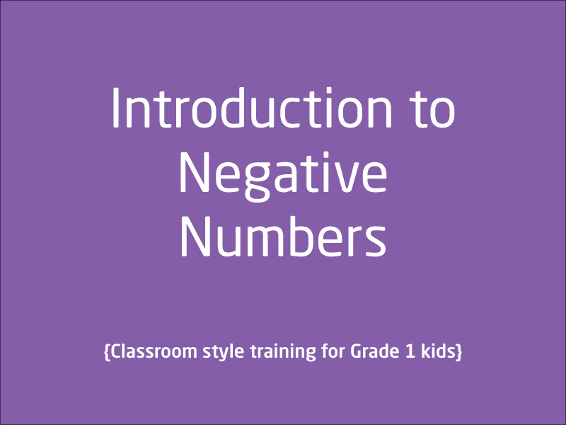 SubjectCoach | Negative Numbers