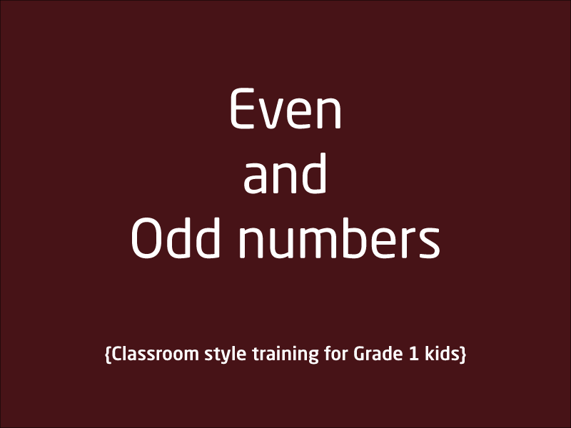 SubjectCoach | Even and Odd Numbers