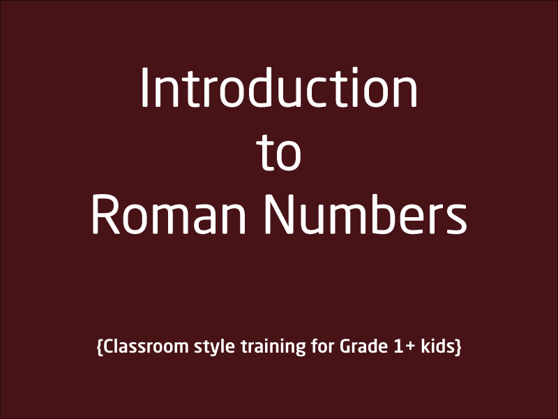 SubjectCoach | Roman Numbers