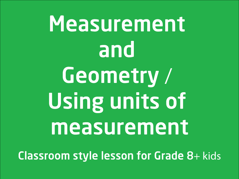 SubjectCoach | Measurement and Geometry
