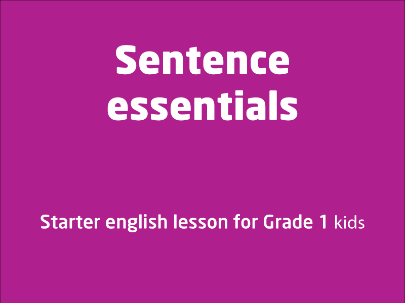 SubjectCoach | What are essential things in a sentence