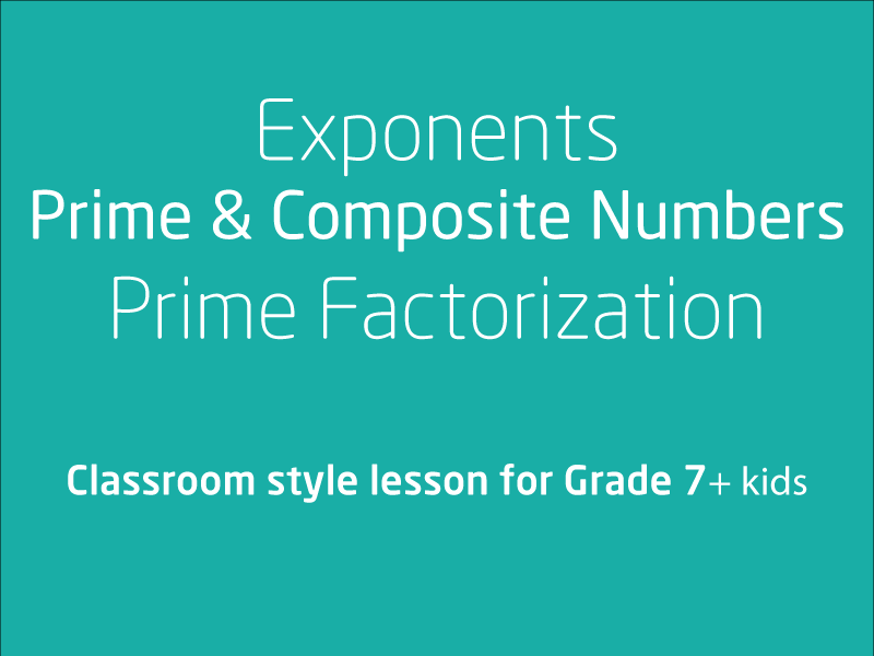 SubjectCoach | Index notation & represent whole numbers as products of powers of prime numbers