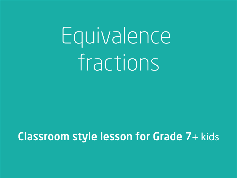SubjectCoach | Equivalence fractions