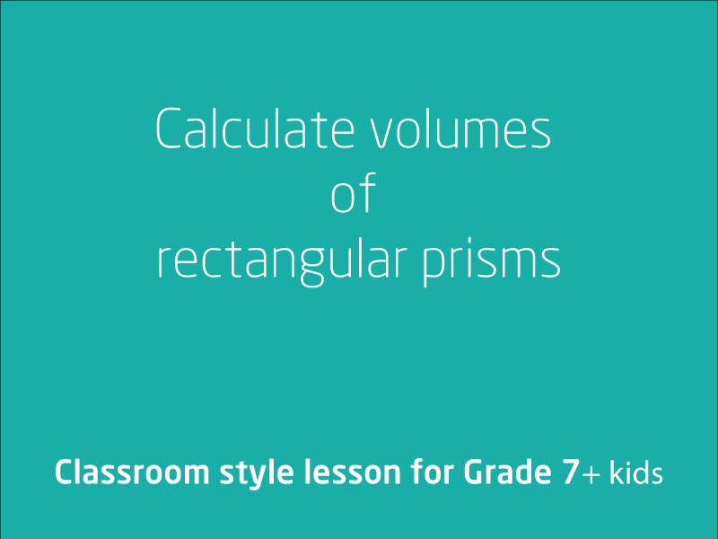 SubjectCoach | Calculate volumes of rectangular prisms