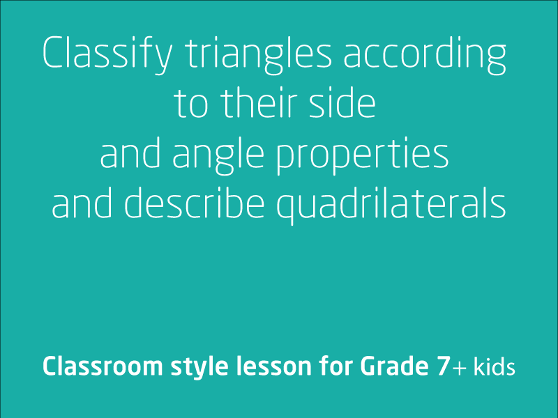 SubjectCoach | Classifying triangles according to their side