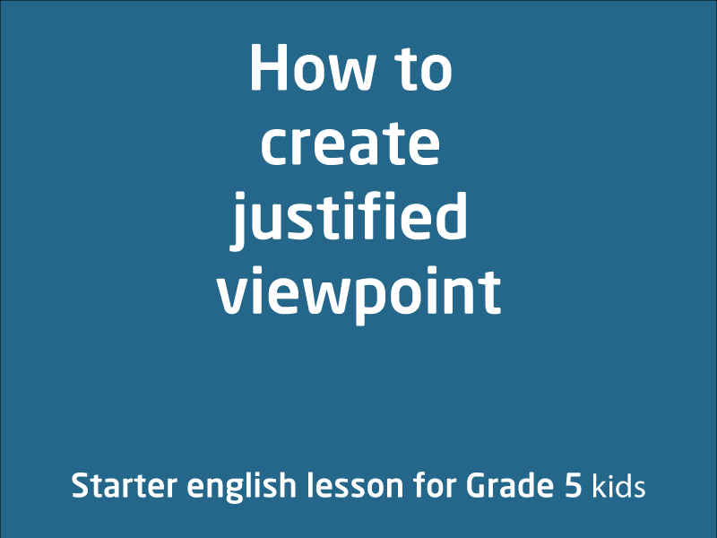 SubjectCoach | How to create justified viewpoint