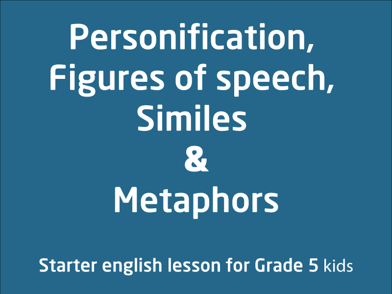 SubjectCoach | Personification, Figures of speech, Similes and Metaphors