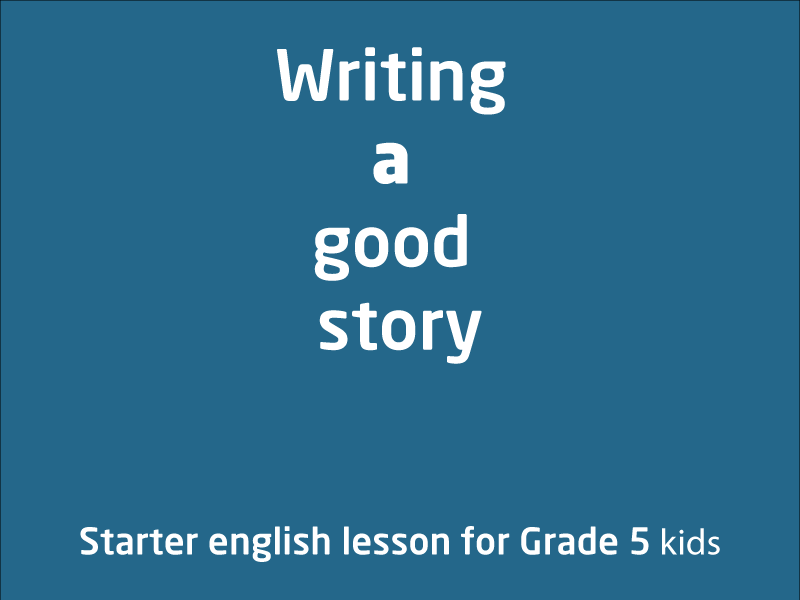 SubjectCoach | Writing a good story