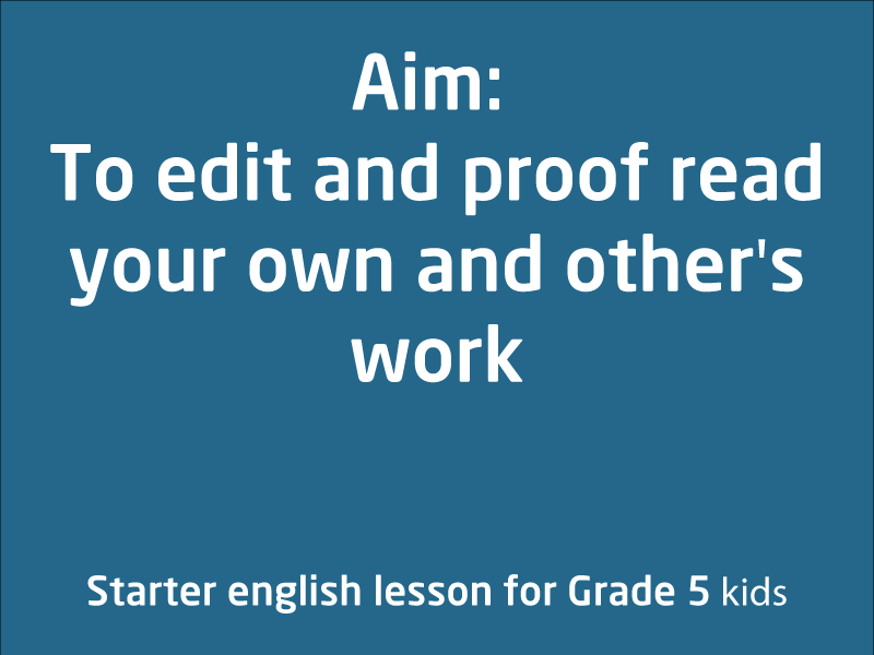 SubjectCoach | Grade 2-5: Proof reading