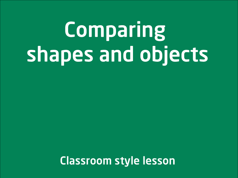 SubjectCoach | Comparing shapes and objects