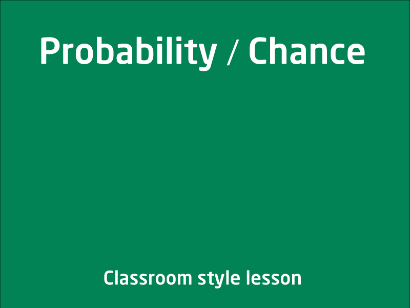 SubjectCoach | Probability / Chance
