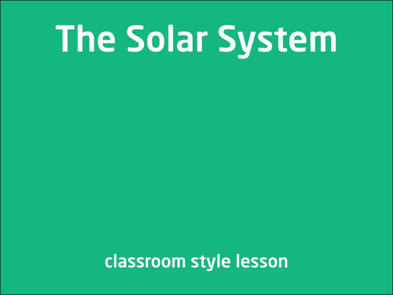 SubjectCoach | The Solar System