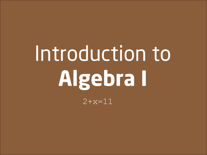SubjectCoach | Quick introduction to Algebra 1