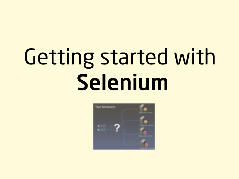 SubjectCoach | Getting started with Selenium