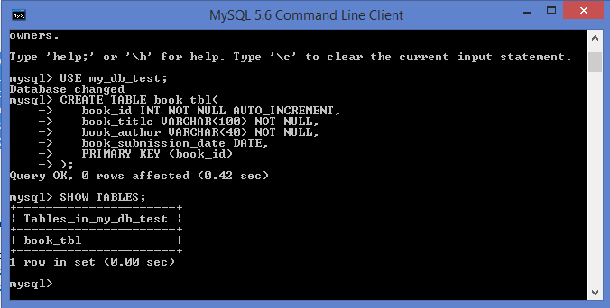 Awesome MySQL Create Table