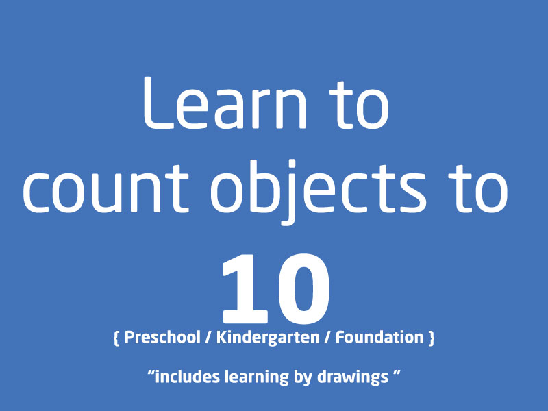 SubjectCoach | PreSchool Kindergarten Learn to count objects from 1 to 10
