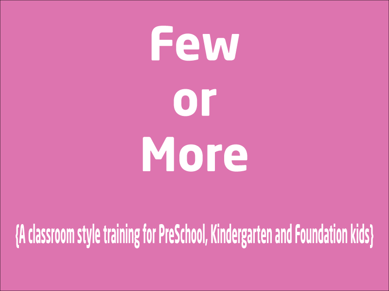 SubjectCoach | Fewer or More number traning for Kindergarten, PreSchool & Foundation