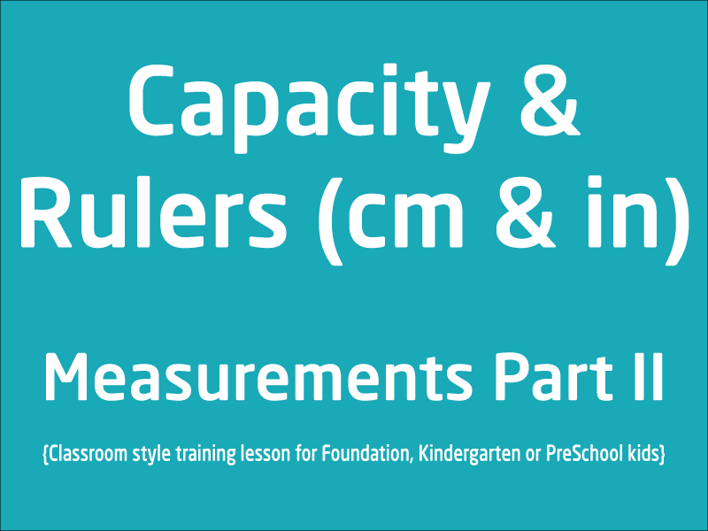 SubjectCoach | Measurements Part 2 Learn Capacity and Ruler units Foundation and PreSchool Kids