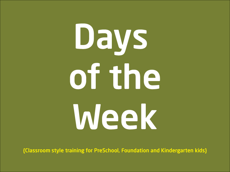 SubjectCoach | Days of the week