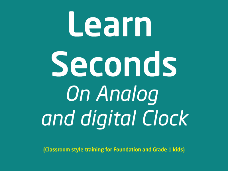 SubjectCoach | Seconds on Analog Clock