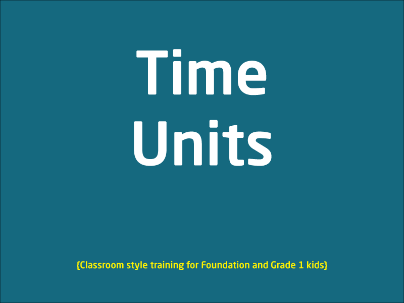 SubjectCoach | Time units