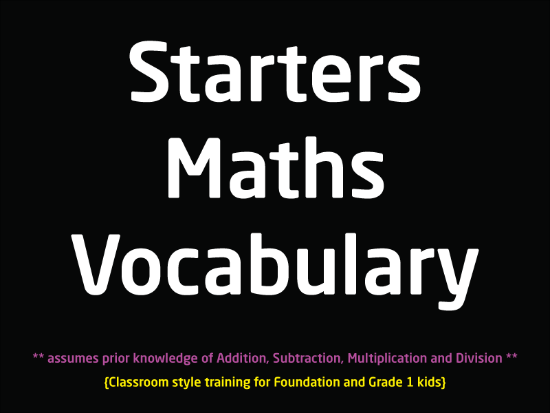 SubjectCoach | Basic Maths Vocabulary for Foundation and Grade 1 kids