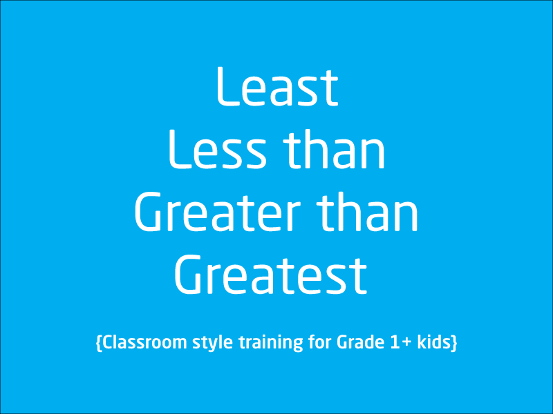 SubjectCoach | What is Least, Less than, Greater, Greater than
