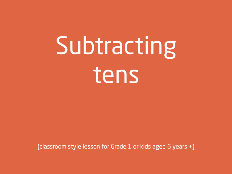 SubjectCoach | Subtracting numbers that are multiple of tens
