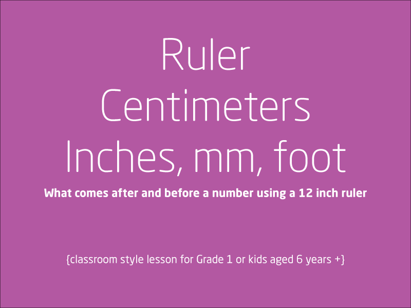 SubjectCoach | Centimeters, Inches, Foot and millimeters