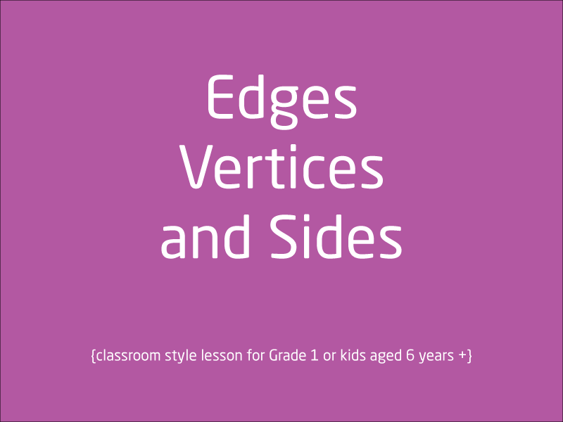 SubjectCoach | Edges, Vertices and Sides