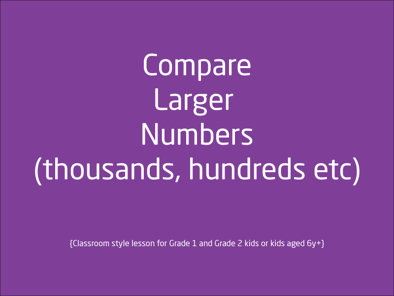 SubjectCoach | Comparing numbers: Thousand place value