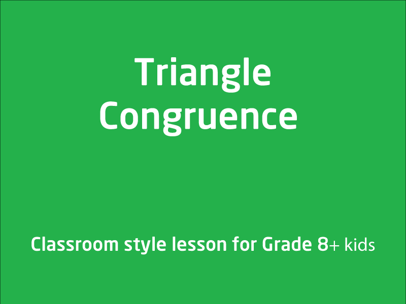 SubjectCoach | Develop the conditions for congruence of triangles