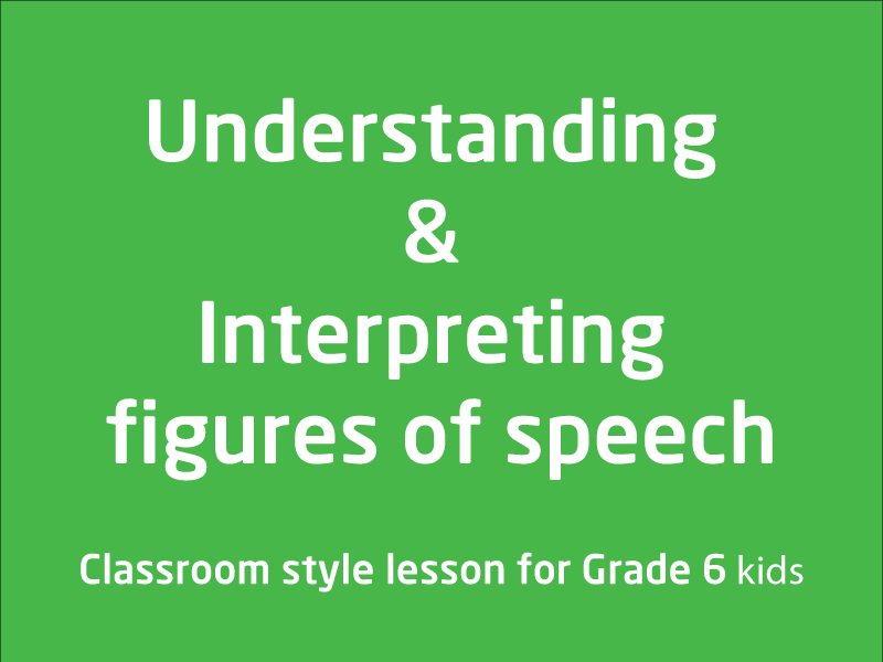 SubjectCoach | Understanding & Interpreting figures of speech