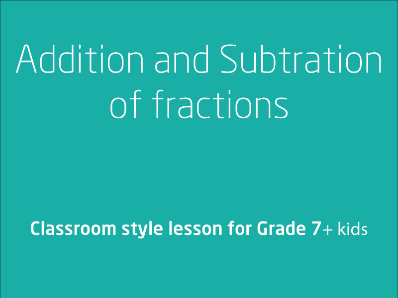 SubjectCoach | Addition and Subtraction of fractions
