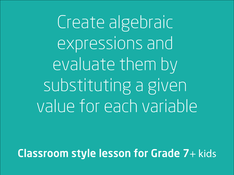 SubjectCoach | Algebraic expressions, evaluation and substitution