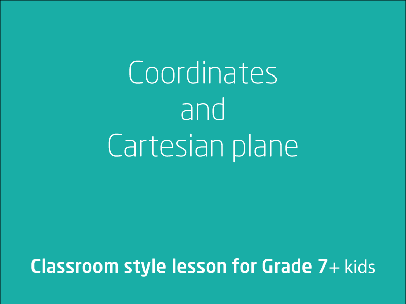 SubjectCoach | Coordinates and Cartesian plane