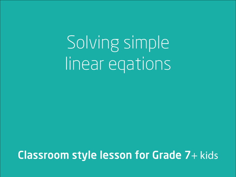 SubjectCoach | Solving simple linear equations