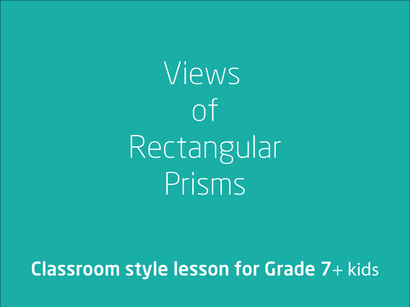 SubjectCoach | Views of rectangular prisms