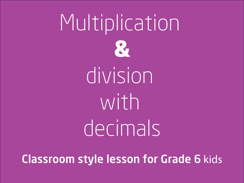 SubjectCoach | Multiplication and division with decimals