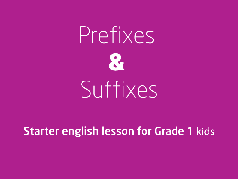 SubjectCoach | Affixes - Prefixes and Sufixes