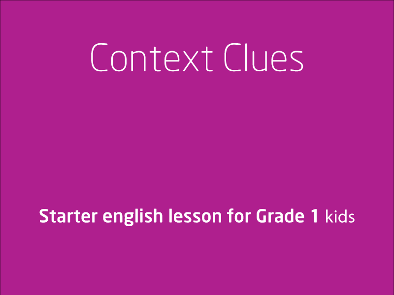 SubjectCoach | Context Clues