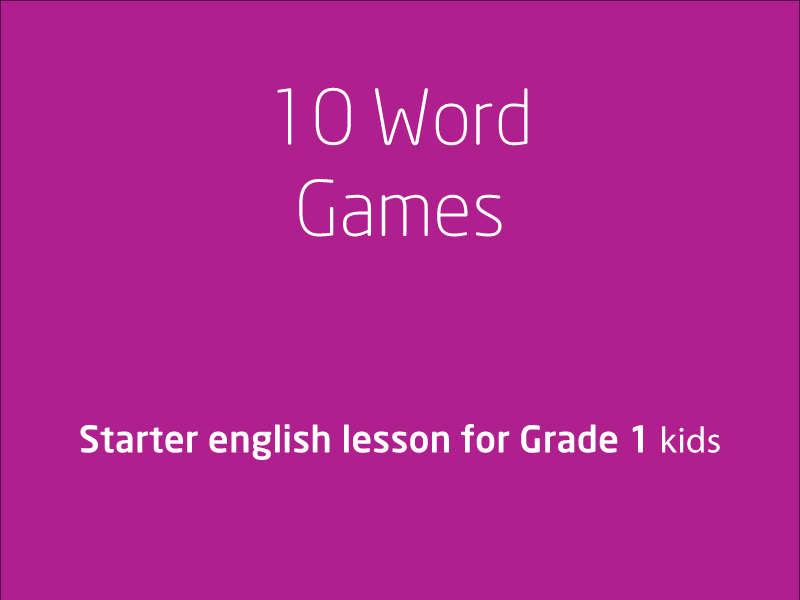SubjectCoach | 10 Word Games Video for Grade 1 kids