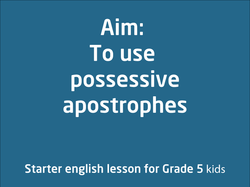 SubjectCoach | Using  possessive apostrophes
