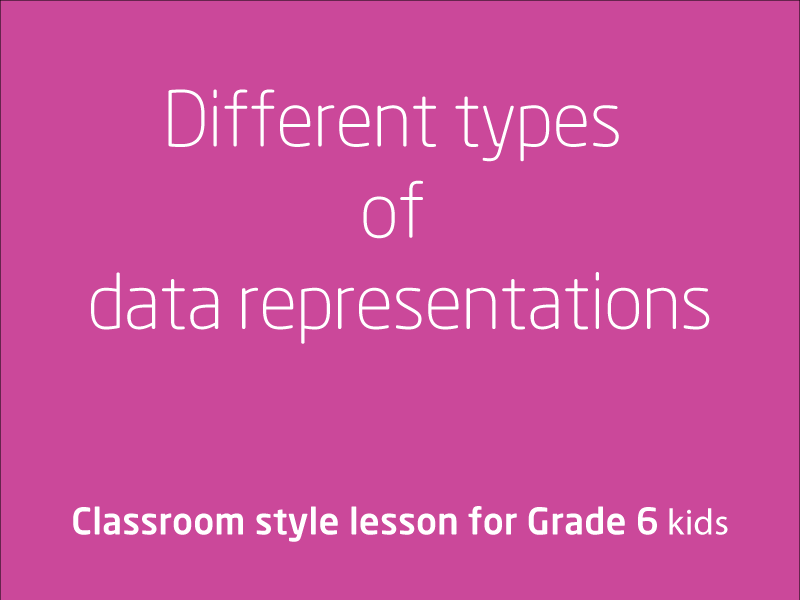 SubjectCoach | Different types of data representations