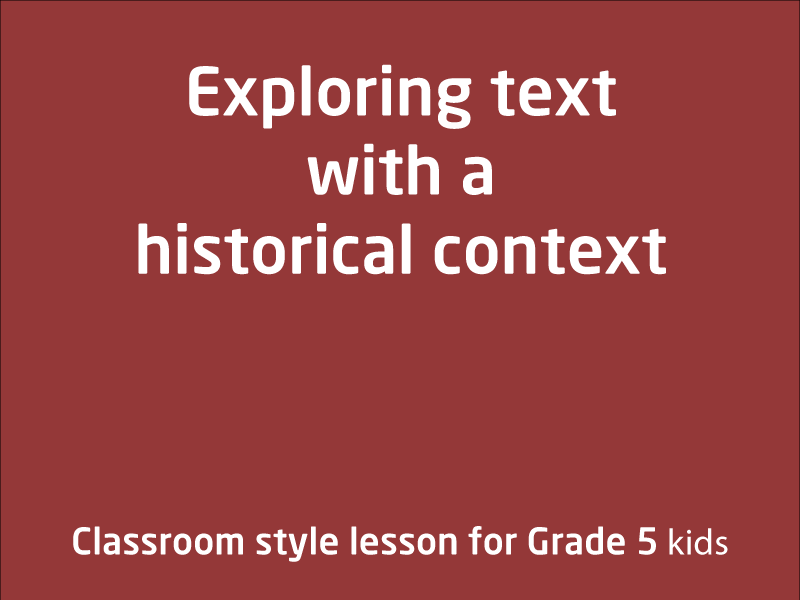 SubjectCoach | Explore text with historical contexts